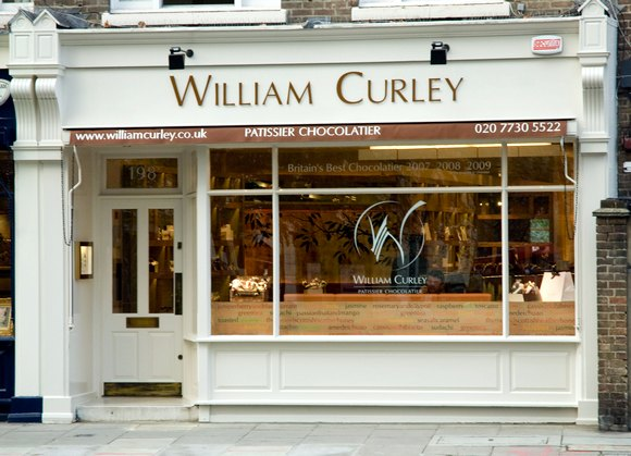 William Curley's new shop, Ebury Street, Pimlico, London