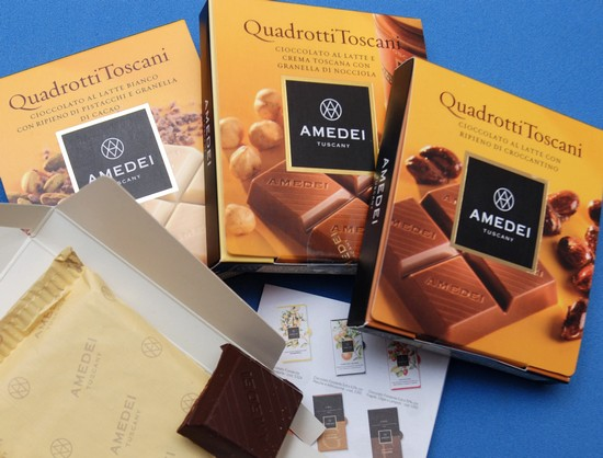 Amedei's new Quadrotti Toscani range