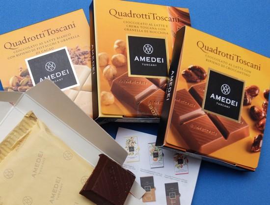 Amedei's new Quadrotti Toscani range