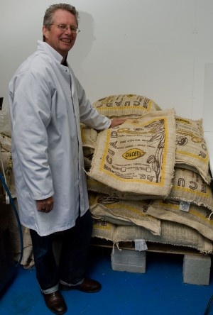 Duffy with Calceta cacao bags