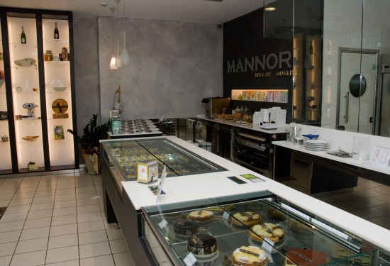 The chocolate counter at Mannori restaurant