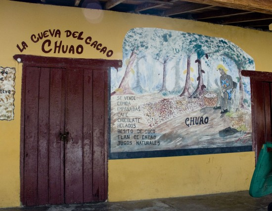 The Chuao cacao cave (also known at the production office)