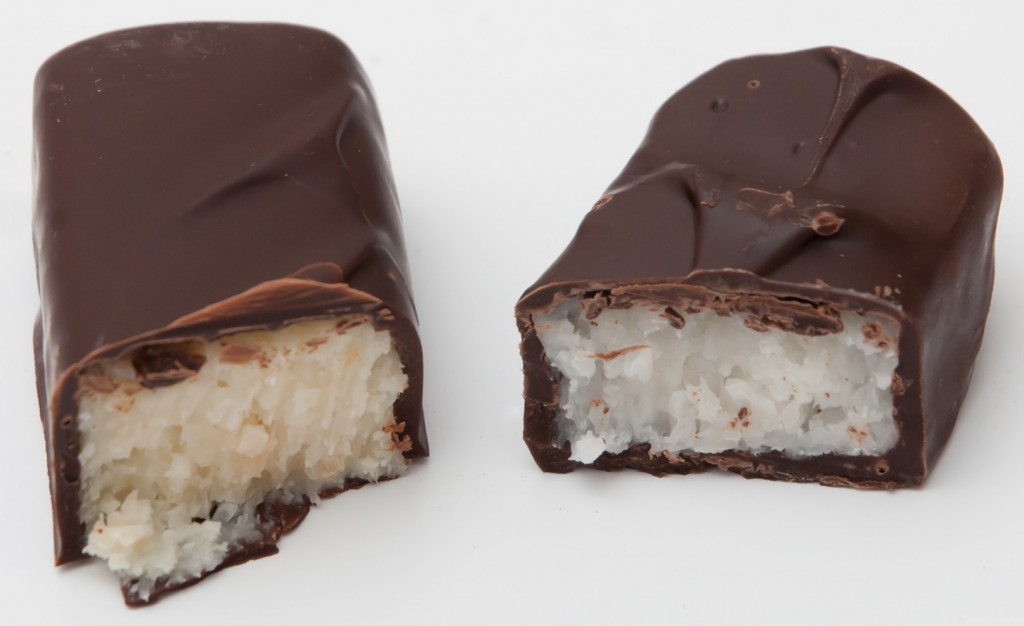 Bounty bar side by side