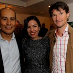 Freddy Wynne, Susana Cardenas Overstall and Santiago Peralta, founder of Pacari Chocolate