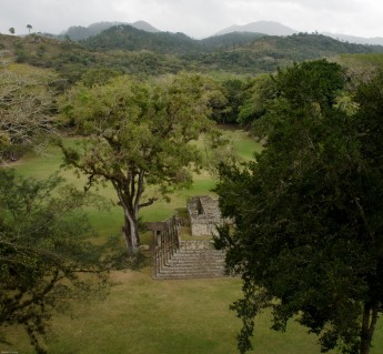 Overlooking the ruins of Copan and surrounding landscape